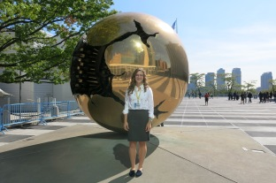 Caroline Dodd, the youngest of 50 civil society representatives at the UN Climate Summit
